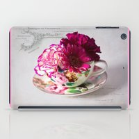 shabby chic iPad Cases featuring Shabby chic floral by inkedsandra