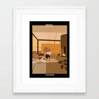allyson johnson Framed Art Prints featuring newman johnson by federico babina