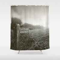 woody Shower Curtains featuring Woody Bay by Emma Harckham