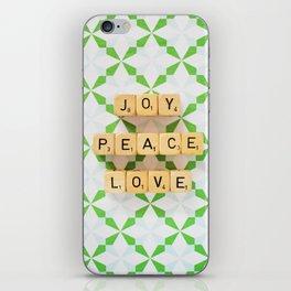 Joy Peace Love iPhone Skin