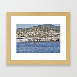 Bodrum Marina Turkey Framed Art Print