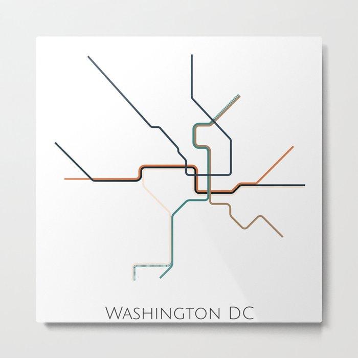 Washinton Dc Metro Map.Washington Dc Subway Metro Map Metal Print By Parmarmedia Society6
