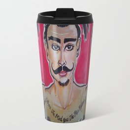 MOUSTACHED MODEL (GREG)  Travel Mug