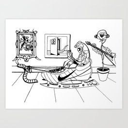 Lucy In The Sky With Nike  Art Print