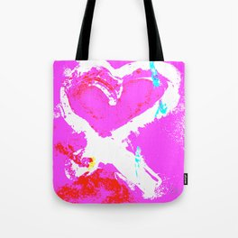 Pink Graffiti Ribbon for Breast Cancer Research by Jeffrey G. Rosenberg Tote Bag