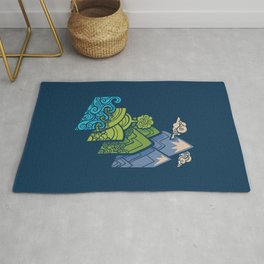 How to Build a Landscape : Blue Rug