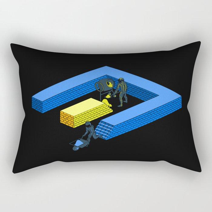 Tron Wall Rectangular Pillow