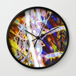 Light Dance - Rainbow Light Painting Wall Clock