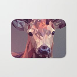 Colorful Polygons Abstract Deer Bath Mat