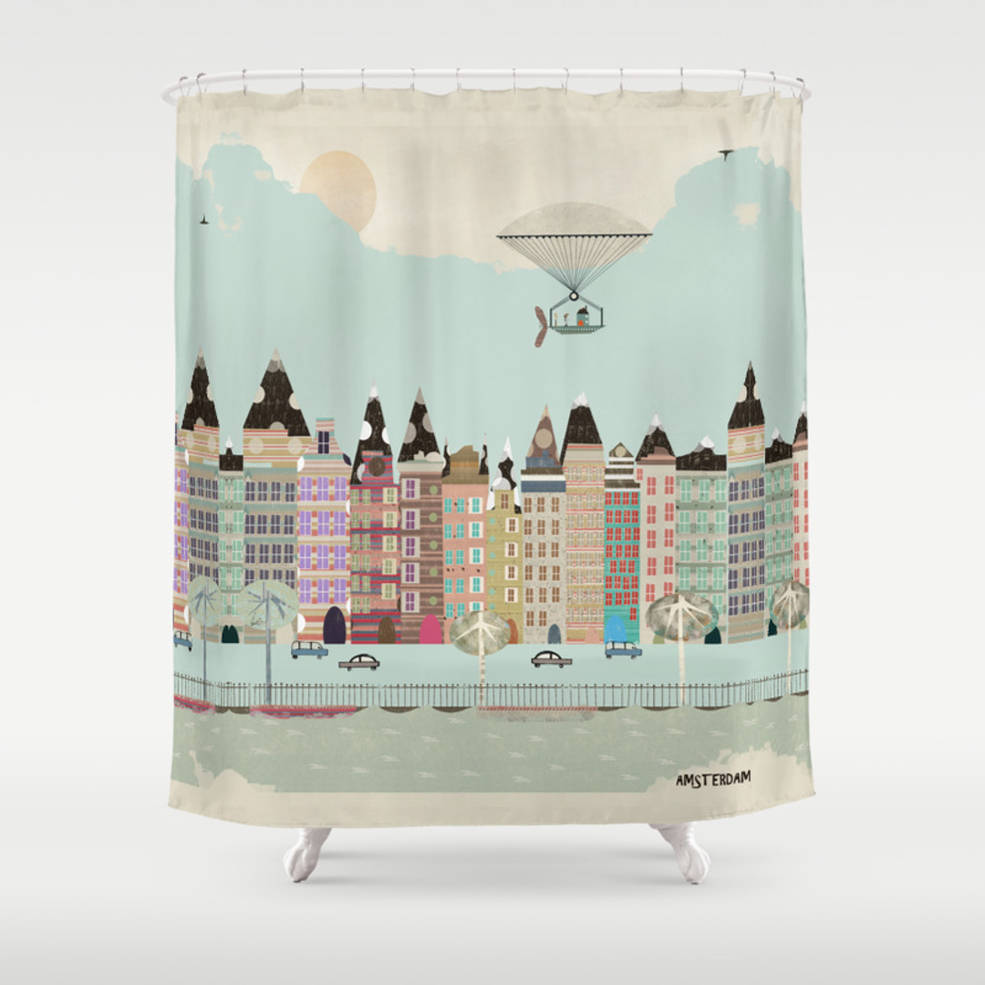 Graphic-design and Pop-art Shower Curtains | Society6