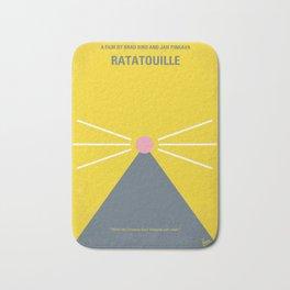 No163 My Ratatouille minimal movie poster Bath Mat