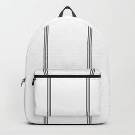 Minimal Black White Stripe Glam #2 #lines #decor #art #society6 Backpack