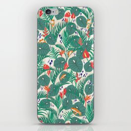 Tropical Frogs in the Jungle - Cream iPhone Skin