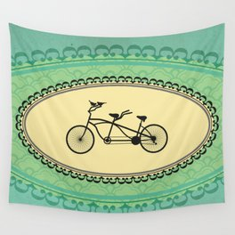Love Birds on Bikes Wall Tapestry