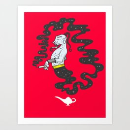 Second hand Genie Art Print