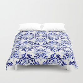 Azulejo V - Portuguese hand painted tiles Duvet Cover