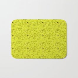 Lime and brown subs Bath Mat