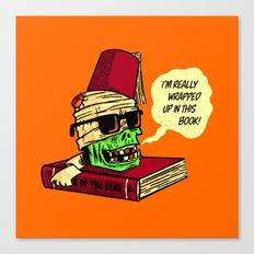 Mummy Reader Canvas Print