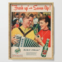 Vintage poster - Soda Advertisement Serving Tray