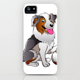 Cartoon Dog with ball iPhone Case
