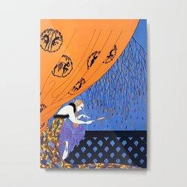 "Art Deco Illustration ""Fall"" by Erté Metal Print"