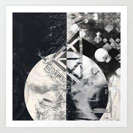 Transcience In Monochrome Art Print