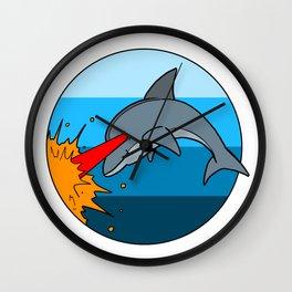 Laser Dolphin 1980s Retro Sci-Fi Design Wall Clock