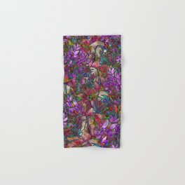 Floral Abstract Stained Glass G175 Hand & Bath Towel