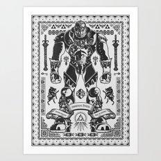 Legend of Zelda Ganondorf the Wicked Art Print