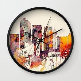 Denver City Skyline Wall Clock