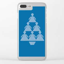 Angel Snowflake Christmas Tree Clear iPhone Case