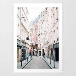 The Streets of Paris in the Latin Quarter Art Print