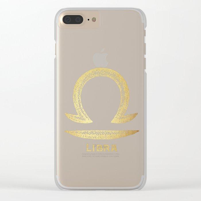 Libra Zodiac Sign Clear iPhone Case