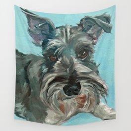 Schnauzer Dog Portrait Wall Tapestry