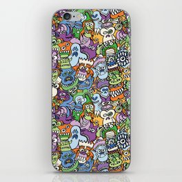 Halloween stars get crazy and hungry in a spooky pattern design iPhone Skin