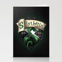 slytherin Stationery Cards featuring Slytherin Crest by Sharayah Mitchell