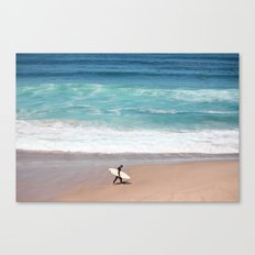 Lonely Surfer Canvas Print