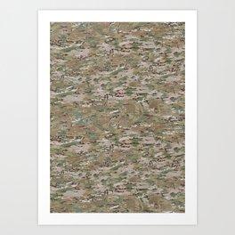 Brown Hunting Camo Pattern Art Print