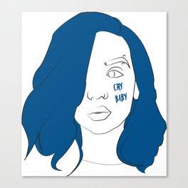 Cry baby vector portrait Canvas Print