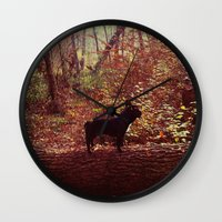 frenchie Wall Clocks featuring Frenchie by Krizan