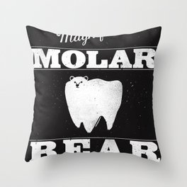 Molar Bear (Gentlemen's Edition) Throw Pillow