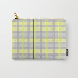 Yellow + Grey Plaid Carry-All Pouch