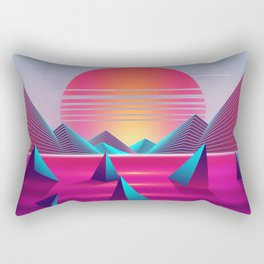 Lucid Sunset Dreams Rectangular Pillow