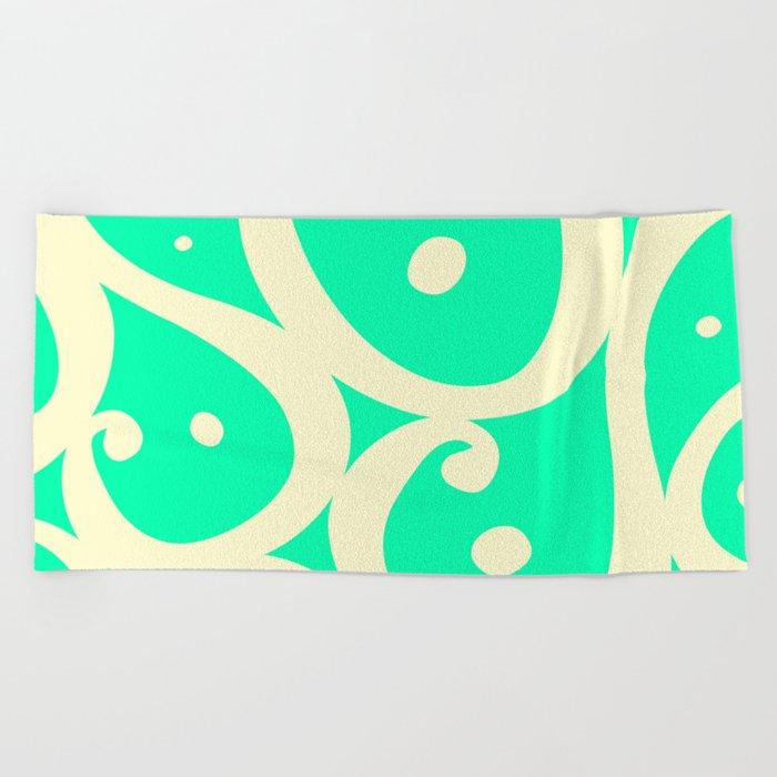 Mint Cream Jelly  Beach Towel