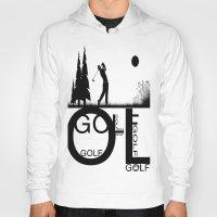 golf Hoodies featuring Golf, golf, golf! b&w by South43