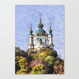 St Andrew's Church, Kiev Canvas Print