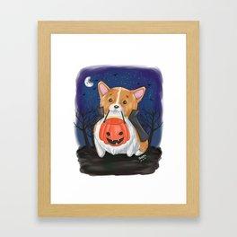 Trick or Treat?... Arf! Framed Art Print