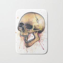 Splatter Paint Skull Bath Mat