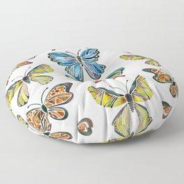Butterfly Specimens Floor Pillow