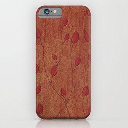 Elegant Leaves in Terra Cotta  iPhone Case